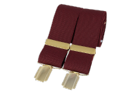 Dalaco BR-011 Plain Burgundy 33mm Gold Clip Braces
